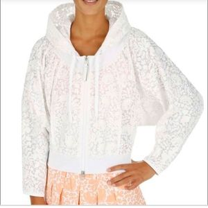 White lace print jacket adidas by stella McCartney